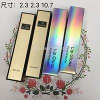 Depolama Şişeleri Kavanoz 23 * 23 * 107mm Altın Gümüş Kozmetik Kağıt Ambalaj Kutusu için Lipgloss Tüp, Renkli Dudak Parlatıcısı Şişe, 50 adet100 adet / paket