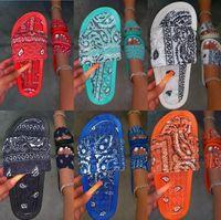 Chinelos Mulheres Unisex Summer Imprimir Slip em Senhoras Lasas Sandálias Casuais Slides Feminino Comfort Beach Shoes Scuffs 35-43