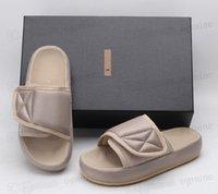 Zapatillas de alta calidad Zapatos Kanye Temporada 6 7 Diapositivas de nylon Hombres de verano Moda Moda Occidental Bordado negro Bordado Impermeable Sandalias Sandalias Sandalias Slider 36-44 # 2021 #