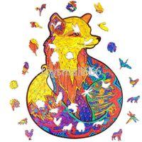 아름 다운 나무 지 그 소 퍼즐 A5 크기 동물 모양 퍼즐 어린이위한 reative 선물 독특한 불규칙한 모양의 퍼즐 조각 CPA2646