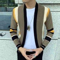 Мужские куртки сплавные контрастные свитер пальто повседневная мужская пальто трико кардиган вязаный вязаный Casaco Masculino Hombre 5i6s