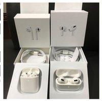 """Yüksek kaliteli Airpods """"Pro"""" WIRLESS Earphones Gerçek Seri NO. Metal Menteşe Kılıfları GPS Rename Kablosuz Şarj Bluetooth Kulaklıklar Kulak Algılama ile"""