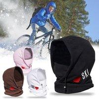 Cycling Caps & Masks Winter Warm Hat Mask Running Scarf Balaclava Velvet Bike Full Face Headwear Climbing Fishing Helmet #3G