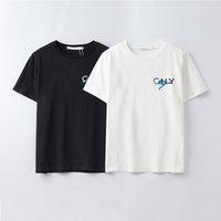 Summer Womens Designer Mens T Shirt Casual Manga corta Algodón Moda de moda camiseta con letra de marca Bordado -xfj