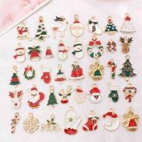 38 pz / pack Arrival Tree Snowman Santa Claus Charms Pendats FAI DA TE Gioielli Fare Accessori Regalo di Natale