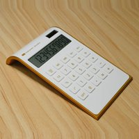 Ultra thin gold frame solar dual power computer calculator printingISHK