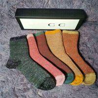 Fashion Mens e Womens Four Seasons Pure cotone caviglia corto calzini di corto designer traspirante all'aperto per il tempo libero 5 colori calzino business