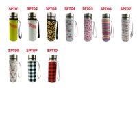 Neoprene Acqua Bottiglia per Bottiglia Isolati Seletica Isolata Borsa Custodia con tazza di vetro Manicotto da tazza 550ml 17 Colori