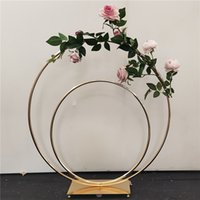 Wedding Props Wrought Iron Ring T Stage Outdoor Road Guide Lawn Decoration Scene Arrangement Flower Stand Shop Window Layout