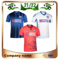 21/22 CD كروز Azul Soccer Jerseys 2021 Home Romo Escobar Rodriguez قميص بعيدا Alvarado Pineda 3rd Football Offe
