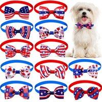 Independence Day Colar Colares Pets Cat Cachorrinho Ajustável Laço 4 de julho Cães Pequenos Decorativos Supplies Lla4652