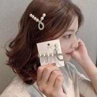 Haarklammern Barrettes 2021 EST Damen Koreanische Perle Haarnadel Für Frauen Niedliches Mädchen Fairy Mode Kristall Clip Kopfschmuck Schmuck Geschenk Großhandel
