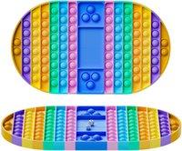 Big Game Rainbow Chess Board Push Blase Zappeln Sinnes Spielzeug Stress Relief Spielzeug Interaktives Party Spiel Sensory Spielzeug