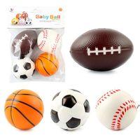 Mini Foam Sports Stress Balls Fidget Toys for Kids Adults Includes Baseball Football Basketball Soccer Toy Little Big Game RRB10949
