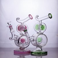 """9"""" Recycler hookahs two chambers heady glass bong"""