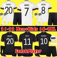 S-4XL المشجعين المشغل 2021 ألمانيا Soccer Jersey Home Thrmels Kroos Werner Havertz Reus Muller Gotze Gnabry كرة القدم قمصان الرجال