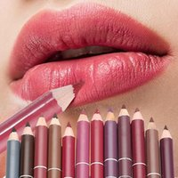 Lip Pencils 1PC Wood Waterproof Professional Long Lasting Cosmetic Tool Liner Pen Eyeliner Pencil Makeup