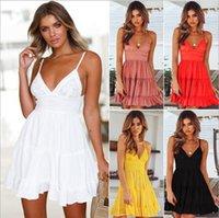 5XL plus size womens designer luxury sexy lace suspenders V-neck dress girl skirt woman dresses summer dress ladies clothes vest chiffon
