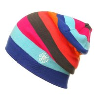 Riding Beanies Cap Casual Striped Knitted Hat Sportwear Snowboarding Skiing Skating Cycling Motocycle Apparel Headwear Caps & Masks