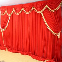 Party Decoration High Quality Thicker 3*6m Background Curtain For Wedding Velvet Backdrop Curtains With Tassel Swags