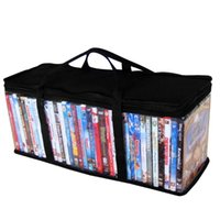 Storage Bags Video Large Organizer Protective CD Holder Portable With Handle Bag DVD Dustproof Clear Oxford Cloth Carrying Zipper
