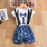 Newborn Baby Clothes Fashion Number Printing Suits 1 Year Ol...