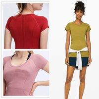 Lu Yoga Womens Splifly Lulu Shirts Tech Camiseta Traza de manga corta 2.0 T-shirts Tshirt Sport Outdoor Outfit 0101