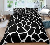 Bedding Sets Animal Texture Leopard 3D Printing Quilt Cover Bed Three Piece Set Children's Bedroom Supplies Cartoon Pillow Case