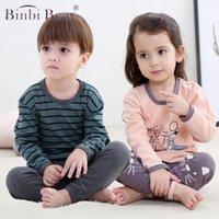 Binbi Mear Toddler Новые дети мальчики для мальчиков Pajamas наборы Pajamas детей одежда с длинным рукавом с длинным рукавом с длинным рукавом спать детская девушка домой хлопок Pijama Infantil Enfant
