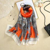 Scarves Scarf 100% Silk Feeling Wraps Headscarf Female Bufanda Mujer Echarpes Coverups Hijabs Bufand De Seda Foulard En Soie Solar Playa