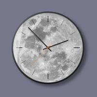 Wall Clocks Minimalist Art Clock Modern Design Moon Living Room Decoration Unique Watch Jam Dinding Unik Home Decor 40C0078