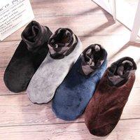24cm Men Thicken Winter Warm Boat Socks Elastic Indoor Floor Socks Slipper Non Slip Soft Casual Breathable New Arrival Acetate