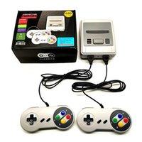 Super Mini SFC-620 Retrao Classic TV 비디오 게임 플레이어 지원 더블 플레이어 핸드 헬드 게임 콘솔 케이블 FC Nes Kids Gift