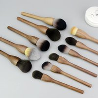 Makeup Brushes Lucky-Girls 1pcs Big Soft Powder Brush For Overall Finish Setting Make Up Wood Handle Walnut Color Tool Cosmetic