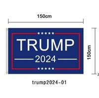 90 * 150 سنتيمتر ترامب 2024 العلم طباعة أمريكا راية حديقة دونالد أعلام البوليستر ديكور بانر DHB6510