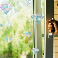 Wall Stickers Window Privacy Film Rainbow Clings 3D Decorative Stained Glass Decals Static Cling Sticker Non-Adhesive For