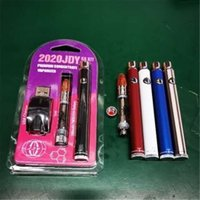 JDY K8 Vaporizer Starter Kit Atomizers 350mAh Bottom Spinner Preheat VV Battery with Big Chief 1.0ml Cartridge Blister Pack for Thick Oil