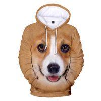 Mens Designer t shirts Casual Print Animal Dog 3D Hoodies Men Women Sweatshirts Harajuku Hooded Autumn Hot Boys Girls pullovers