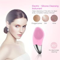 Mini Electric Facial Cleansing Brush Silicone Sonic Face Cleaner Deep Pore Clean Skin Massager Brushes Device