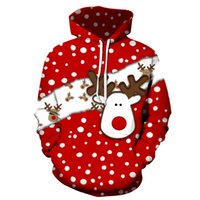 Men's Pattern 3D Printing Hoodie Party Fashion Tops Christmas Round Neck High Quality Street American Sweater Four Seasons NO66