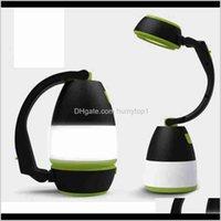 Lâmpadas de mesa multifuncionais 3 em 1 lâmpada LED lâmpada de acampamento luz de emergência Home USB recarregável lanternas portáteis ZZA2336 7CAJP KY3QL