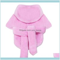 Apparel Dog Supplies Home & Gardendog Pajamas Pet Jumpsuit Bathrobe Solid Winter Warm Coats For Puppy Comfortable Hoodie Clothes Fashion Cut
