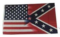 Novo 90 * 150cm 5x3ft bandeira americana com confederado rebelde guerra civil bandeira 3x5 pé flag DHL Free DWD6548