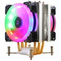 백 플레이트가있는 고성능 더블 팬 스크류 좋은 가격 LGA1356에 대한 히트 싱크 CPU 냉각기 냉각 팬 1366 1156 1151
