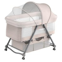 Artfunning Portable Removable Crib, Height Adjustment Stitching, Big Bed Baby Cradle Bb Anti-spill Milk Cribs