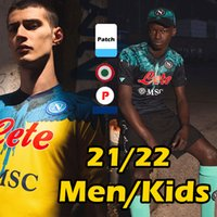 2021 2022 Napoli Futebol Jerseys Maradona Maglietta da Calciatore OsiMhen Insigne 2021 SSC Nápoles Kits Maglia Mertens Men Kids Football Shirt Thai