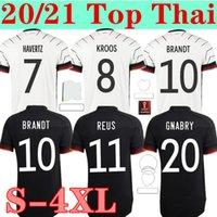 2021 Almanya Futbol Forması Ev Uzakta Hummels Kroos Sane Draxler Reus Muller Gotze Futbol Gömlek Üniformaları Hayranları Oyuncu Sürüm Erkekler + Çocuklar Kiti