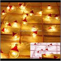 Décorations Flocon de neige LED Lumière Joyeux Noël Arbre Décoration d'arbre de Noël pour la maison Guirlande Guirlande Ornement Decor Navidad Xmas Cadeau Année UX NOZWG