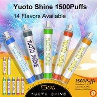 100% Authentic Yuoto Series 1500 Puff XXL 2500 Switch Dual Luscious 3000Puffs Smart 600Puffs plus 800 bubblor Uppladdningsbar Mini Bar Shine Y Engångsvape