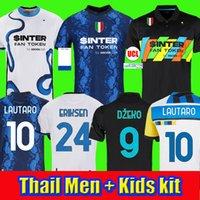 futbol forması 2021 Inter Milan VIDAL ERIKSEN LUKAKU LAUTARO ALEXIS SKRINIAR BARELLA futbol formaları 20 21 üniformalar erkek + çocuk kiti